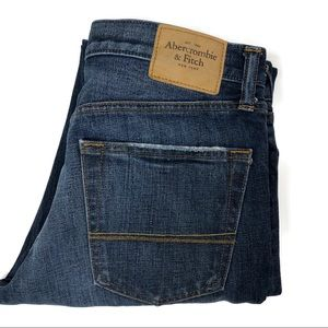 Abercrombie & Fitch Men's Slim Destroyed Jeans